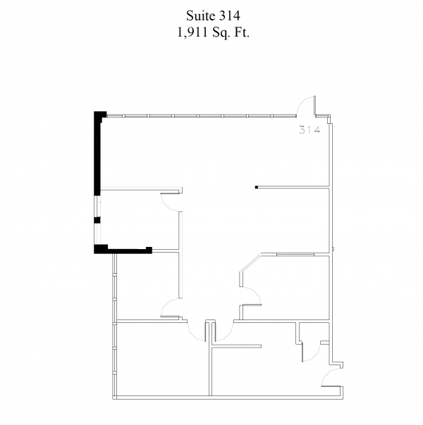 floorplan for suite 314