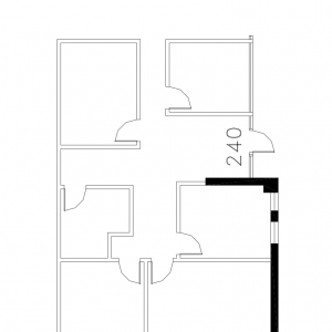 Floorplan for suite 240