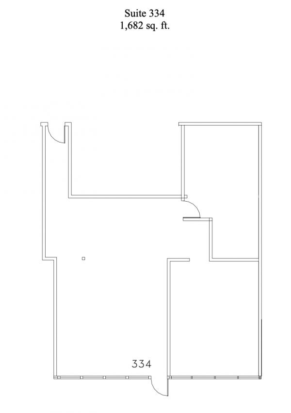 Floorplan for suite 334