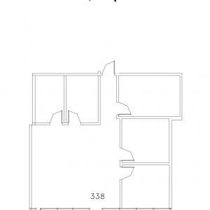 Floorplan for suite 338