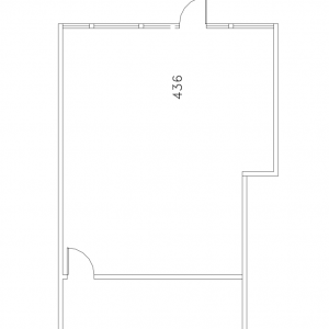 Floorplan for suite 436