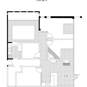 Floorplan for suite 438